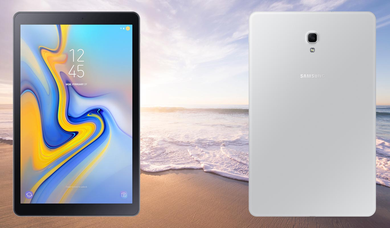Samsung Galaxy Tab A 10 5 with Sea Background