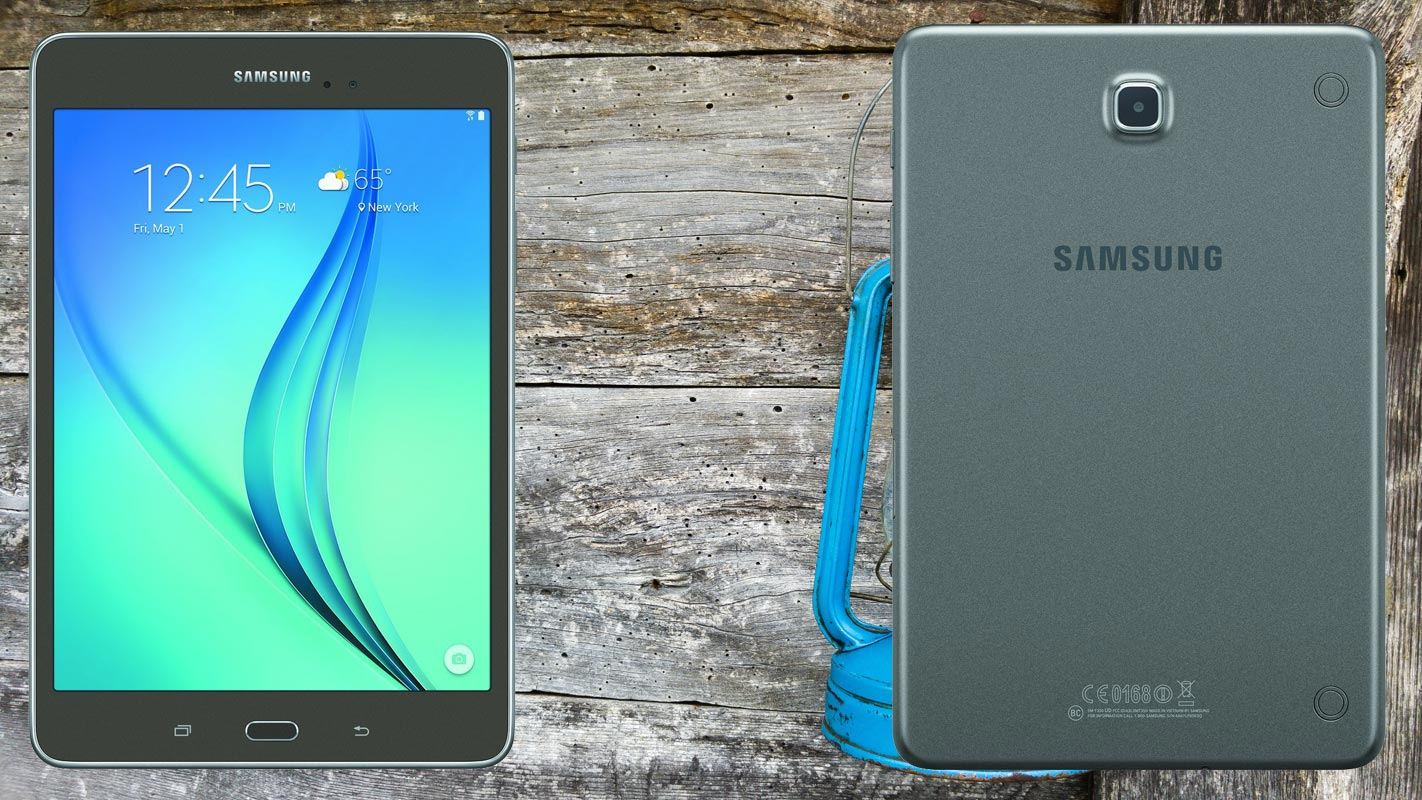 Samsung Galaxy Tab A 8 0 2015 with lantern light Background