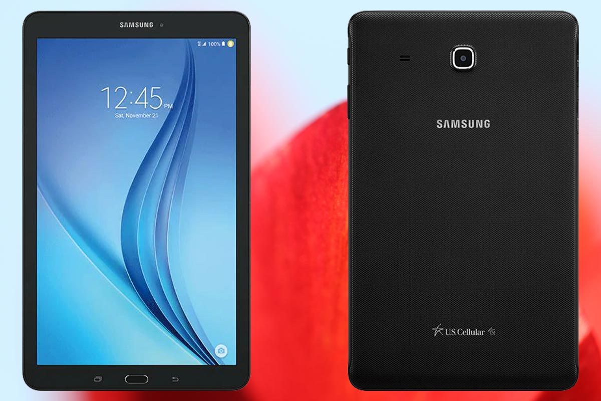 Samsung Galaxy Tab E 8.0 2016 with Flower Background