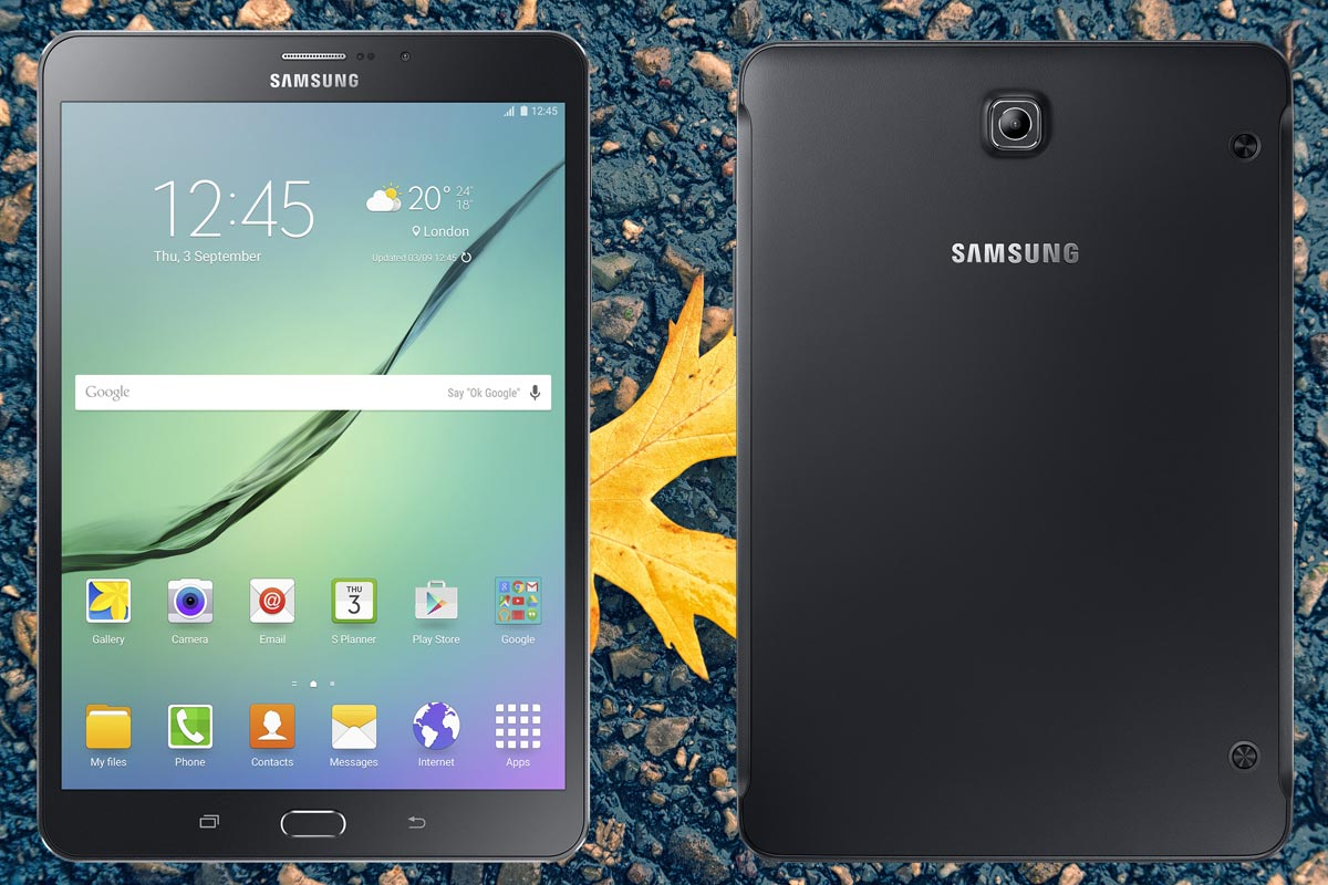 Samsung Galaxy Tab S2 8.0 2015 with Yellow Background