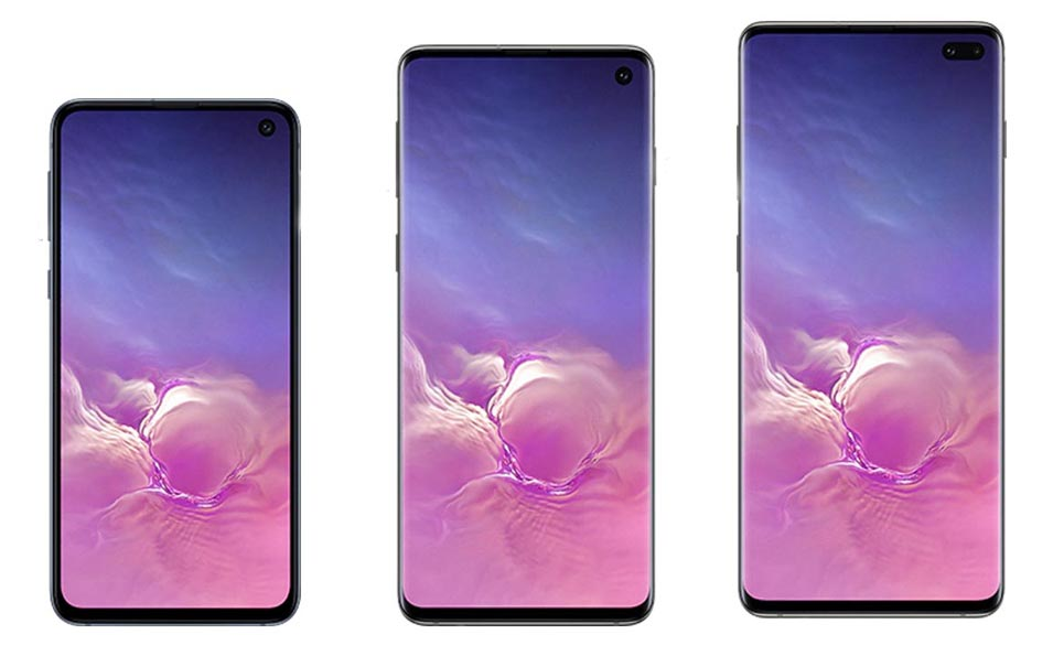 Samsung S10e S10 and S10 Plus
