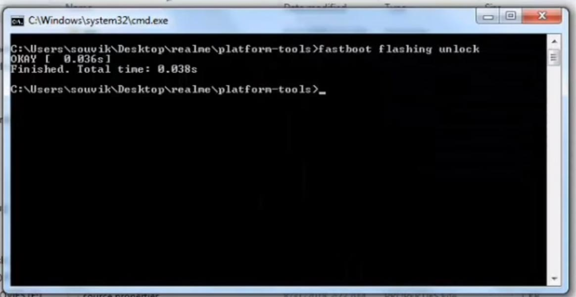 fastboot flashing unlock