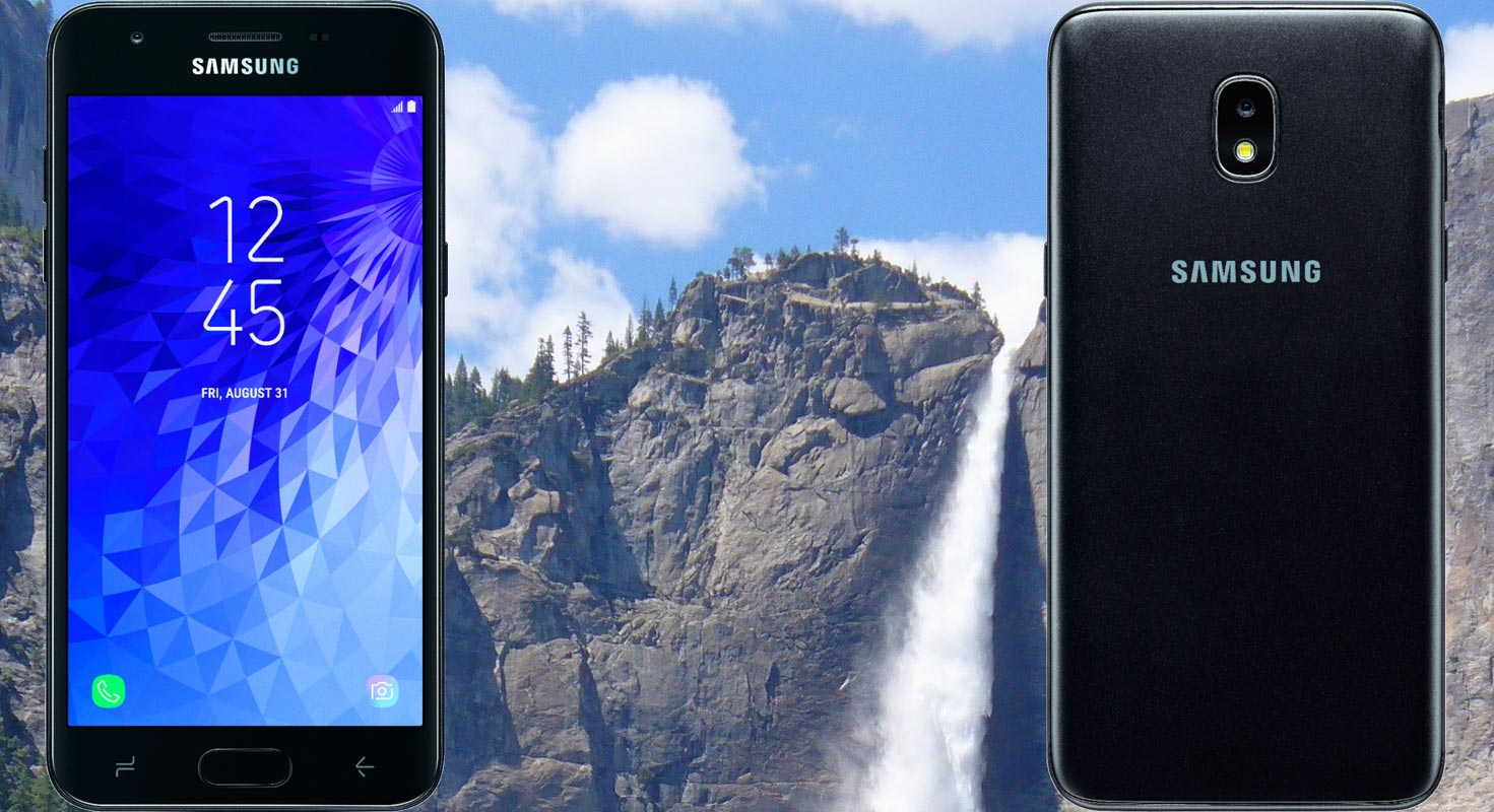 Samsung Galaxy J3 Top with Water Fall Background