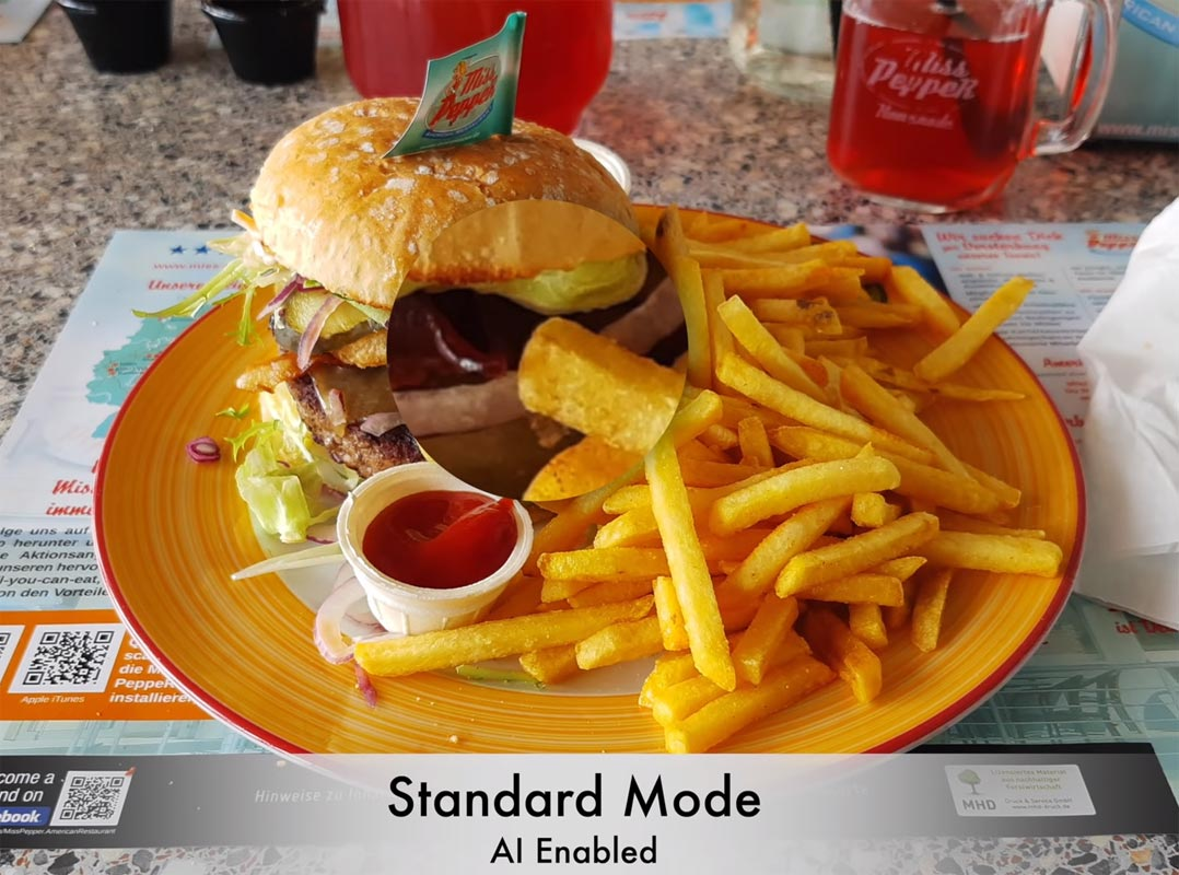 Motorola One Vision AI Camera Sample French Fries Food