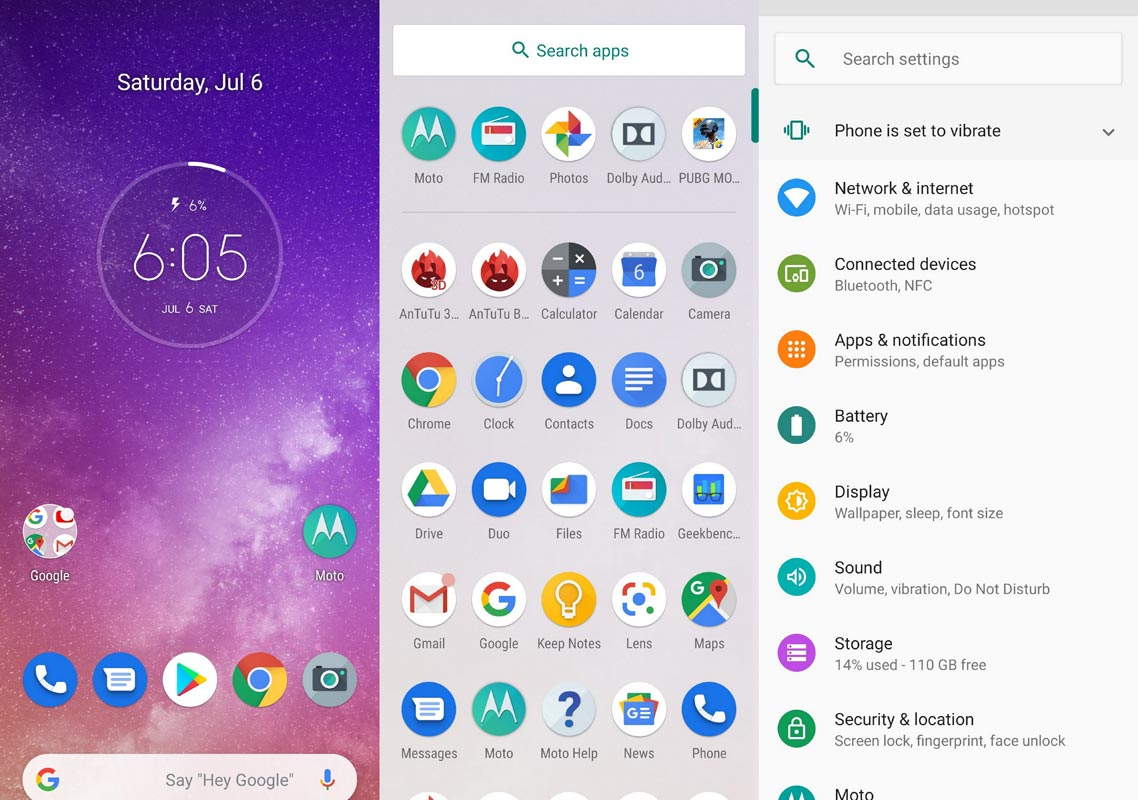 Motorola One Vision Android One Screenshots