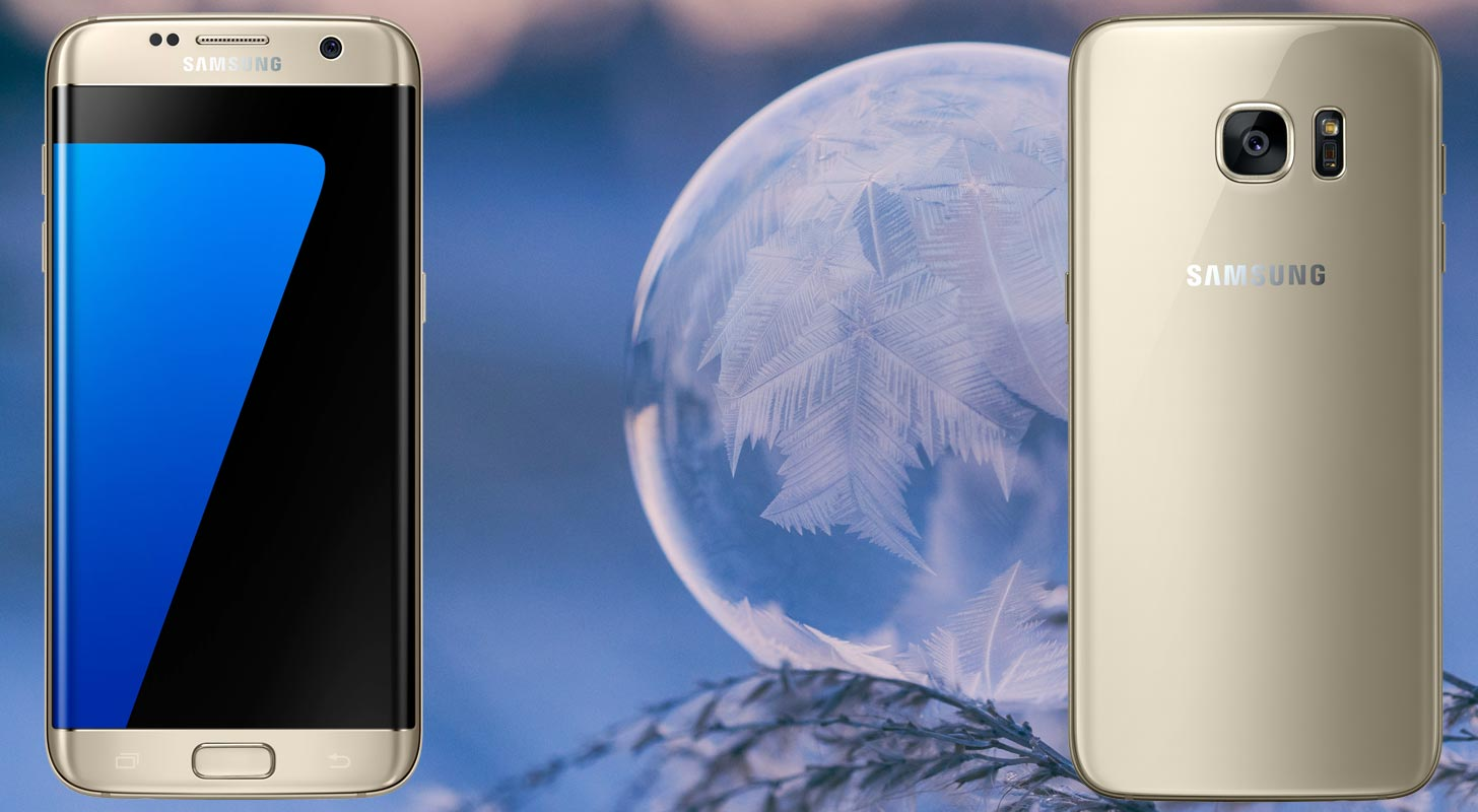 Samsung Galaxy S7 with Snow Ball Focus Background