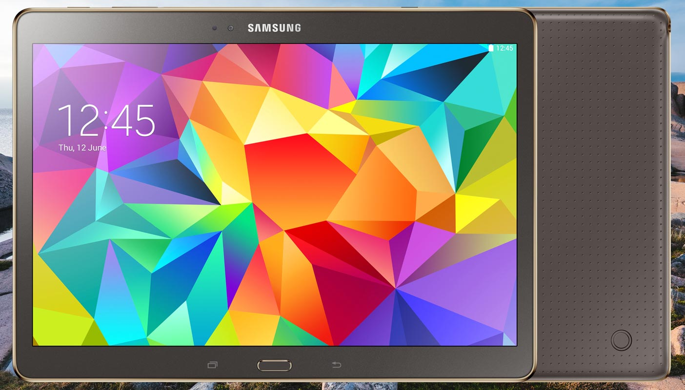Samsung Galaxy Tab S 10 5 LTE with Sea Side Stones Background
