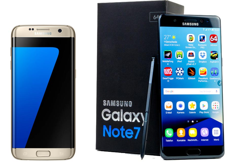Samsung S7 and Note 7
