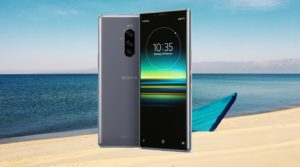 Sony Xperia 1 with Beach Boat Background