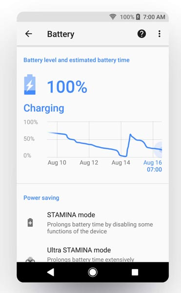 Sony Xperia Oreo Battery Saver