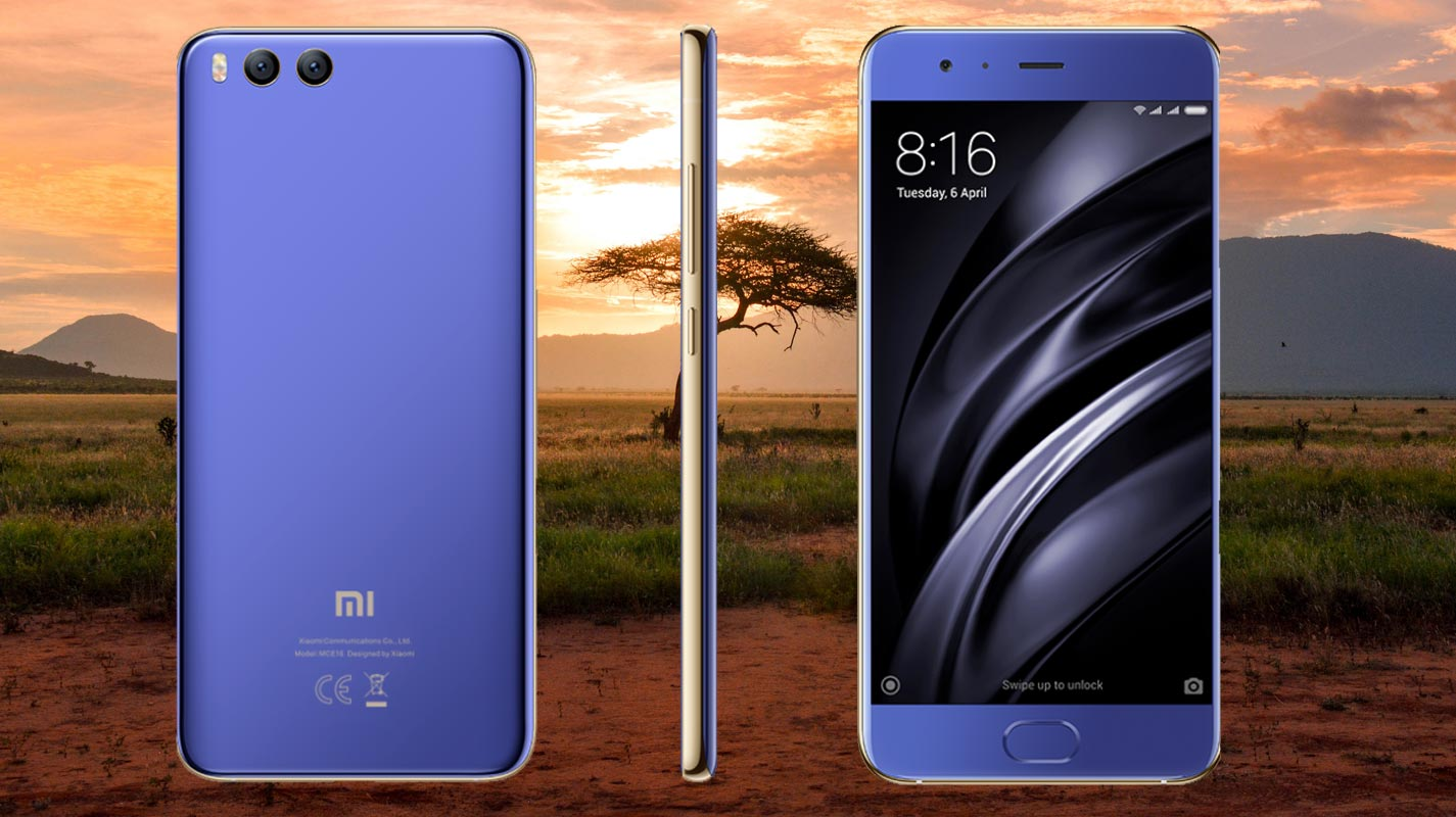 Xiaomi Mi 6 with Dessert Side Tree Background