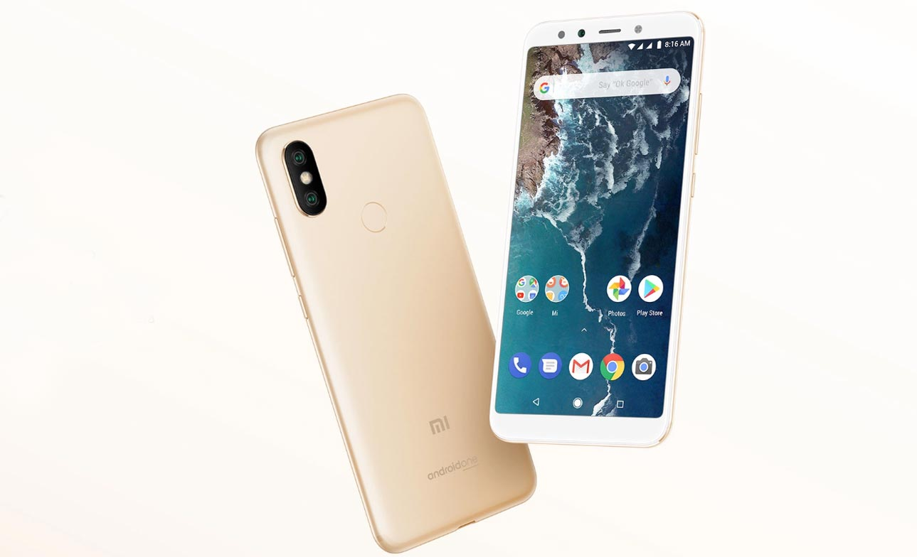 Xiaomi Mi A2 with Light Yellow Background