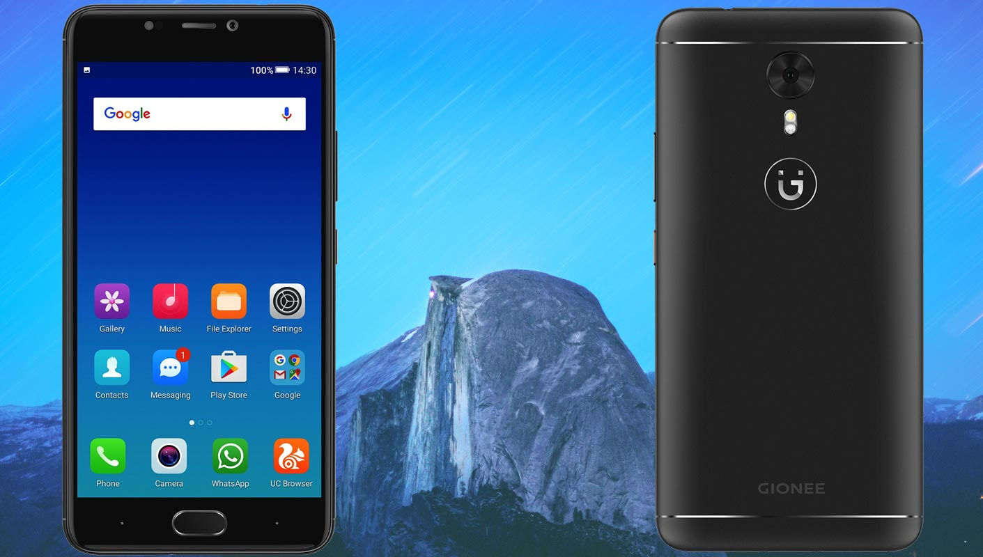 Gionee A1 with Sky Mountain Background