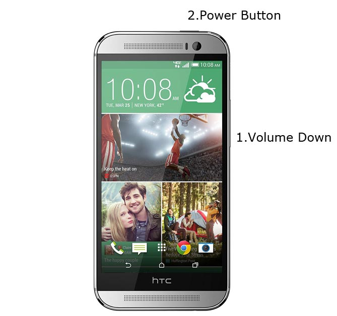 HTC One M8 Recovery Mode