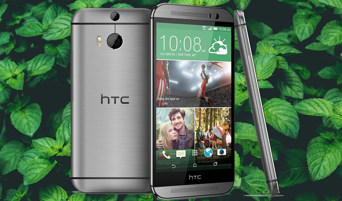 HTC One M8 with Mint Background