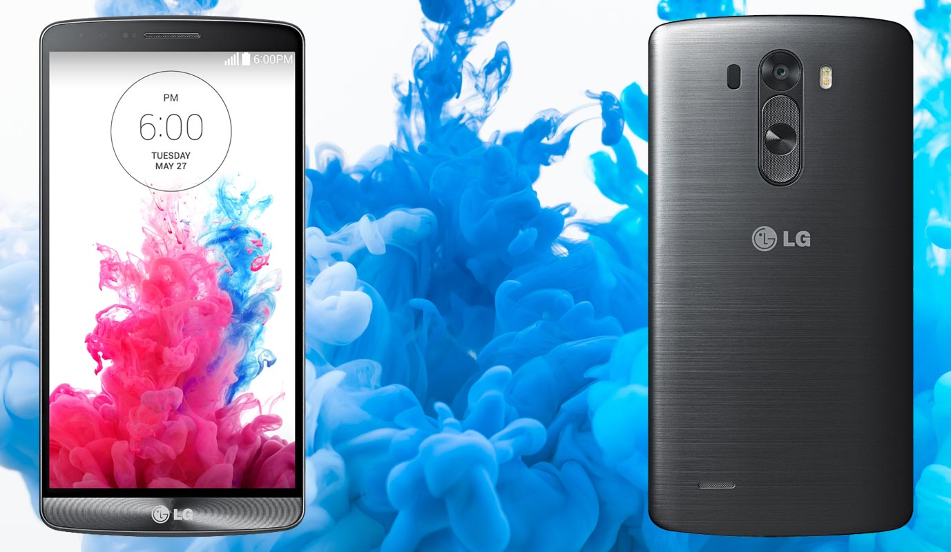 LG G3 with Blue Water Colour Background