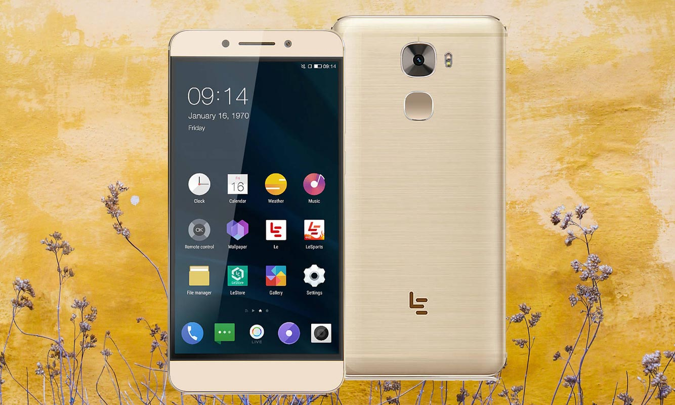 LeEco Le Pro3 with Yellow Wall Background