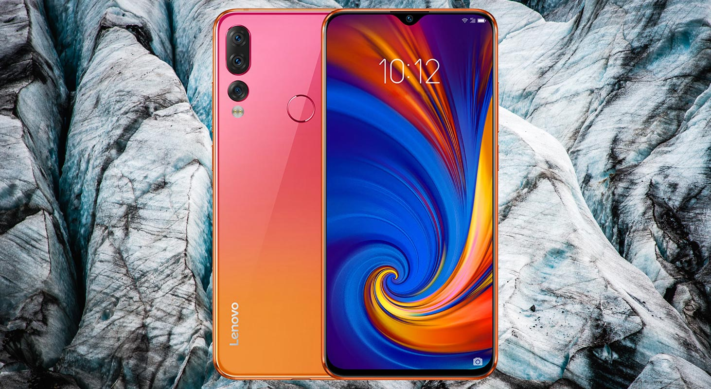 Lenovo Z5s with Blue Shade Mountain Background