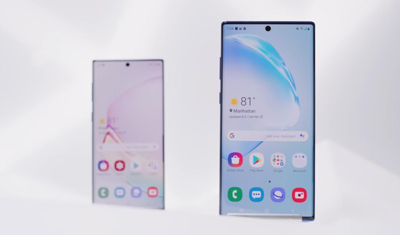 Samsung Galaxy Note 10 with Note 10 Plus