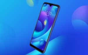 Xiaomi Mi play with Blue Bubbles Background