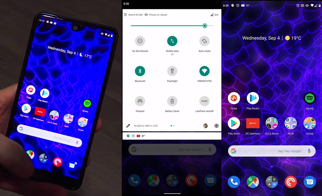 Essential PH-1 Android 10 Screenshots
