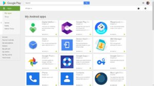 Google Play Store My Apps PC Version
