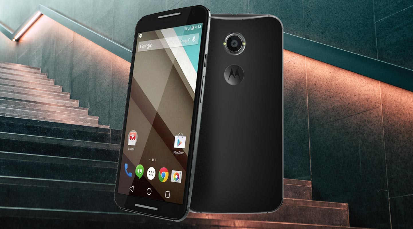 Moto X 2014 With Stairs Background