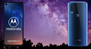 Motorola One Vision with Space Background
