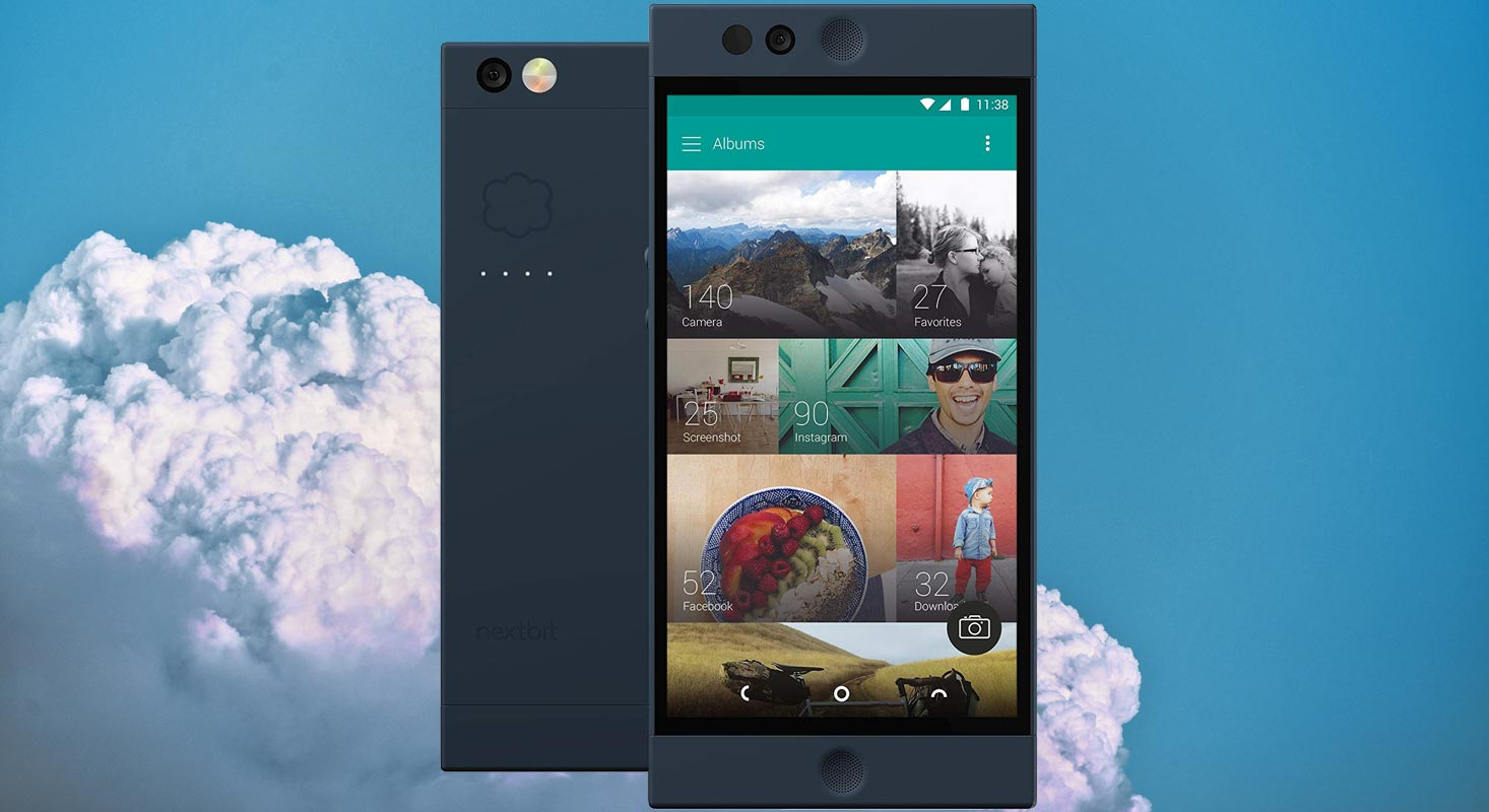 Nextbit Robin with Clouds in Sky Background