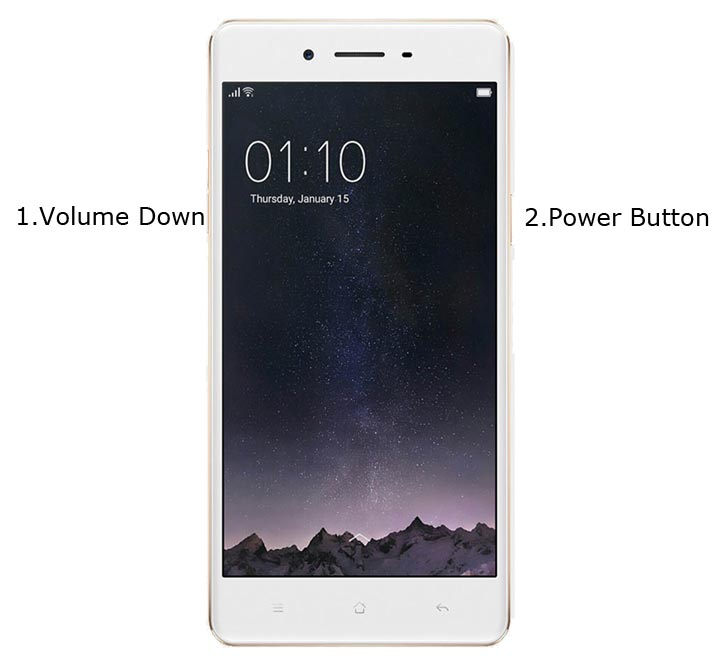 Oppo F1 Recovery Mode