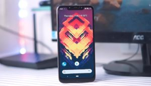 Poco F1 with Lineage OS on Table