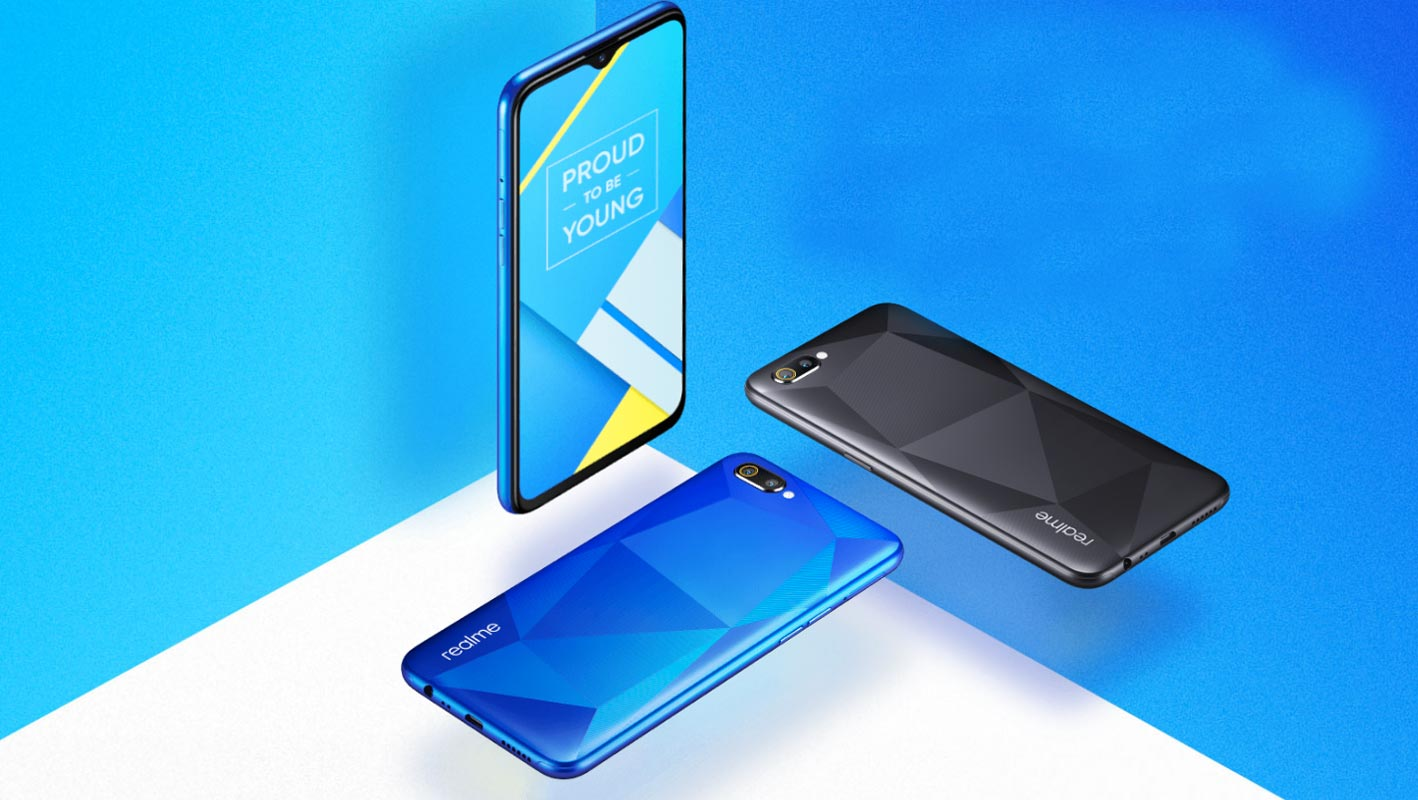Realme C2 In Cubic Texture