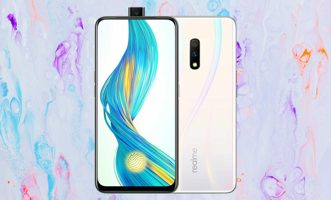 Realme X with Paint Background