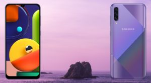 Samsung Galaxy A50s with Sea Background