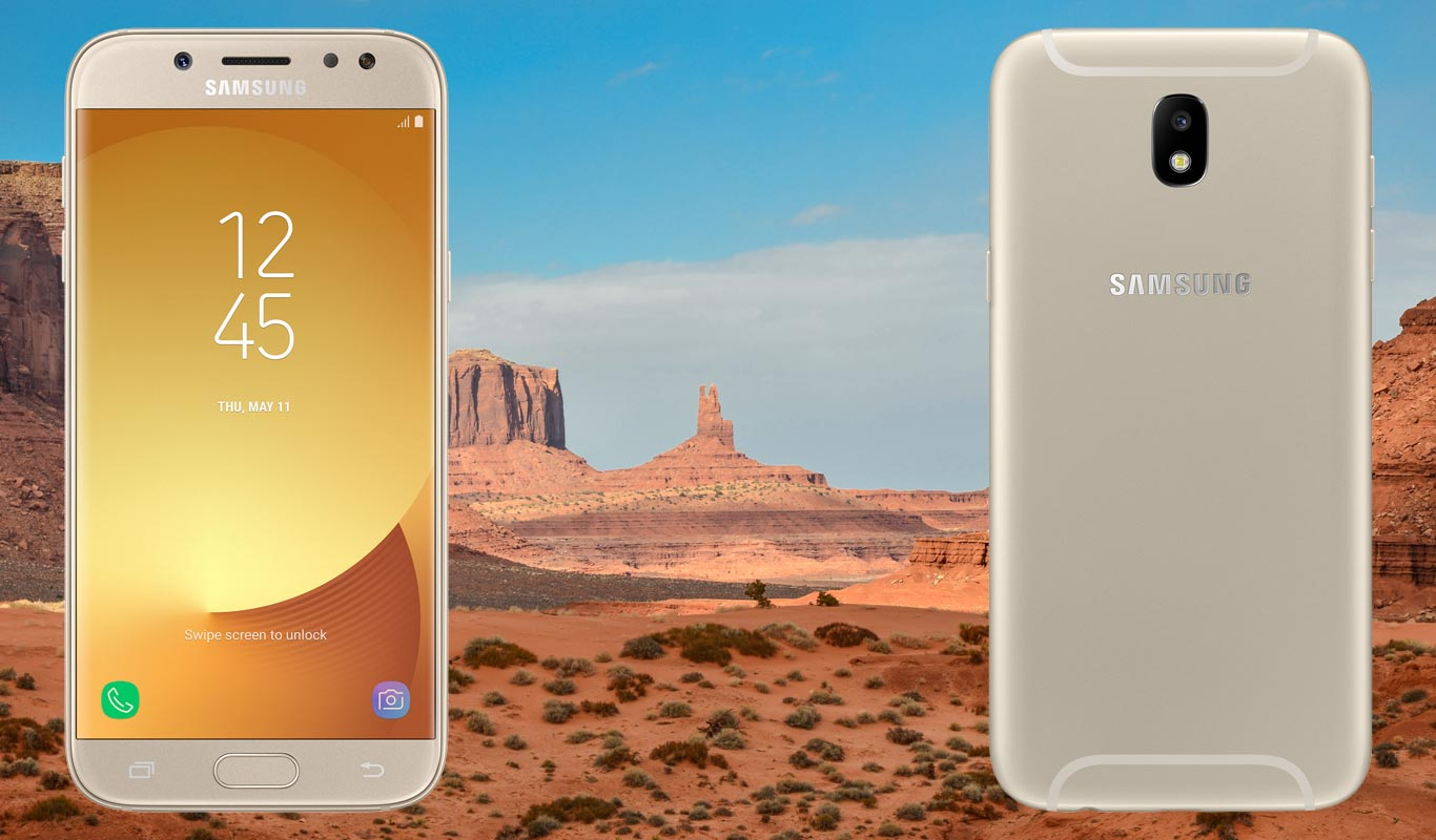 Samsung Galaxy J5 Pro with Dessert Background