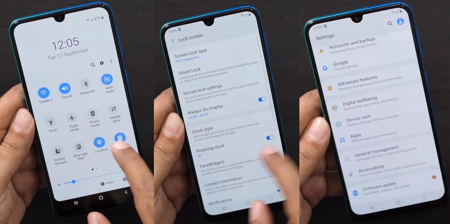 Samsung Galaxy M30s One UI