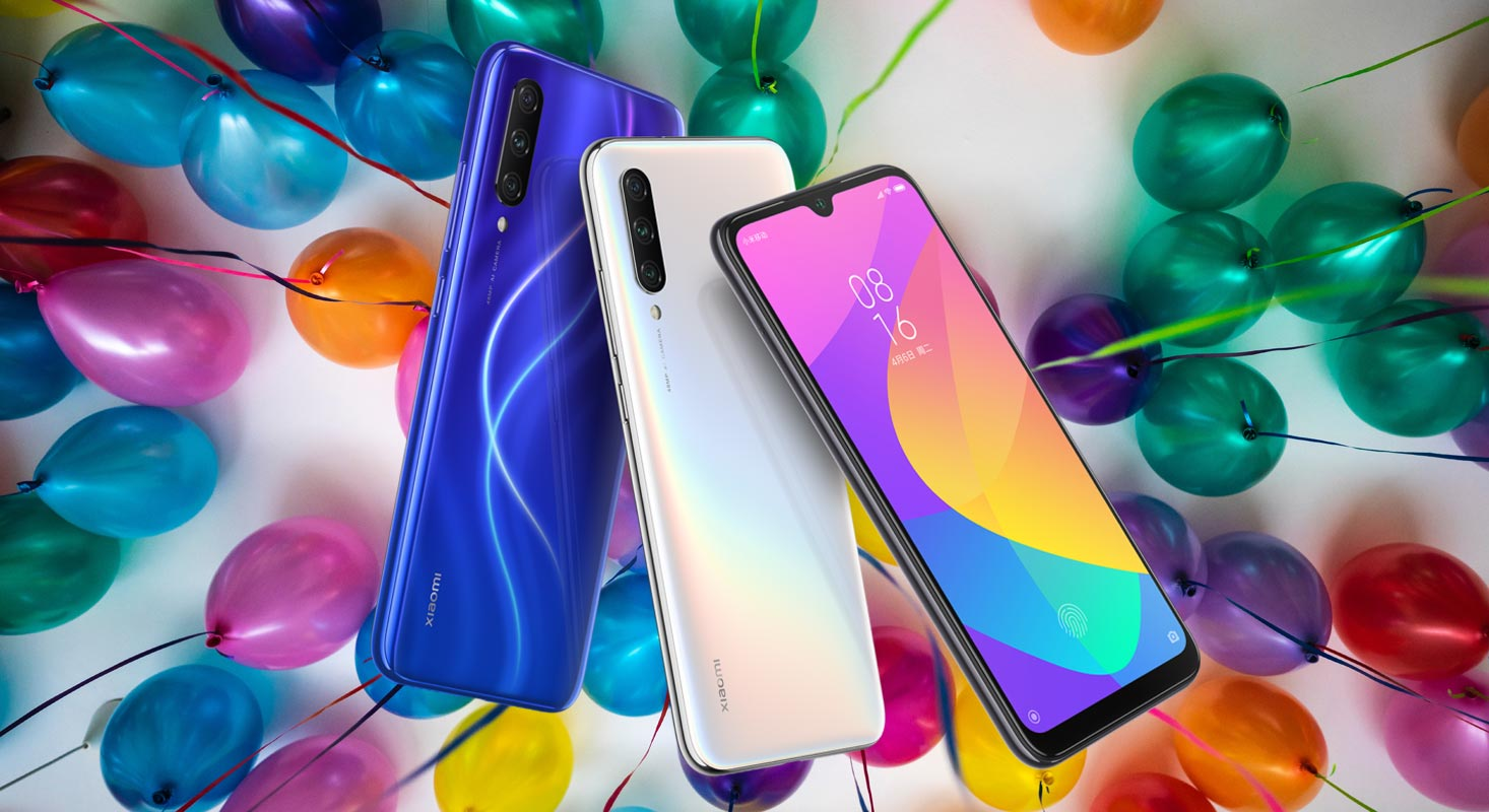 Xiaomi Mi CC9 with Balloon Background