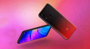 Xiaomi Redmi 7 with Pink and Red Background