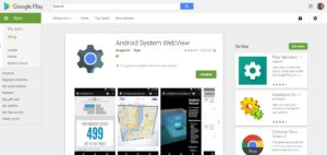 Android Web View in Play Store