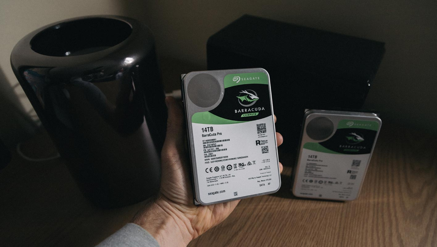 Barracuda 14 TB Harddisk in Hand