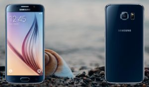 Galaxy S6 with Sea Shell Background