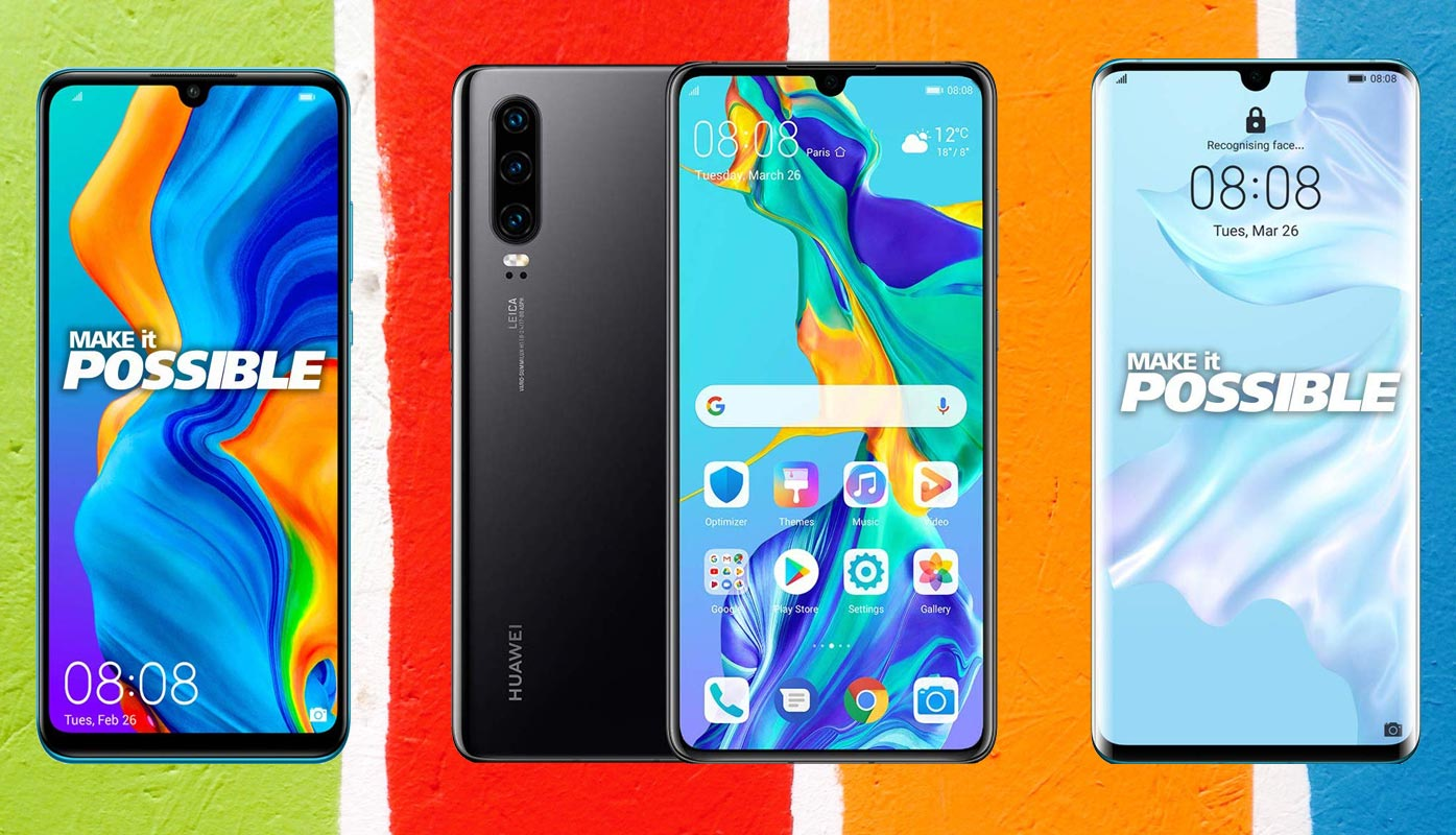 Huawei P30 Pro Lite with Paint Background