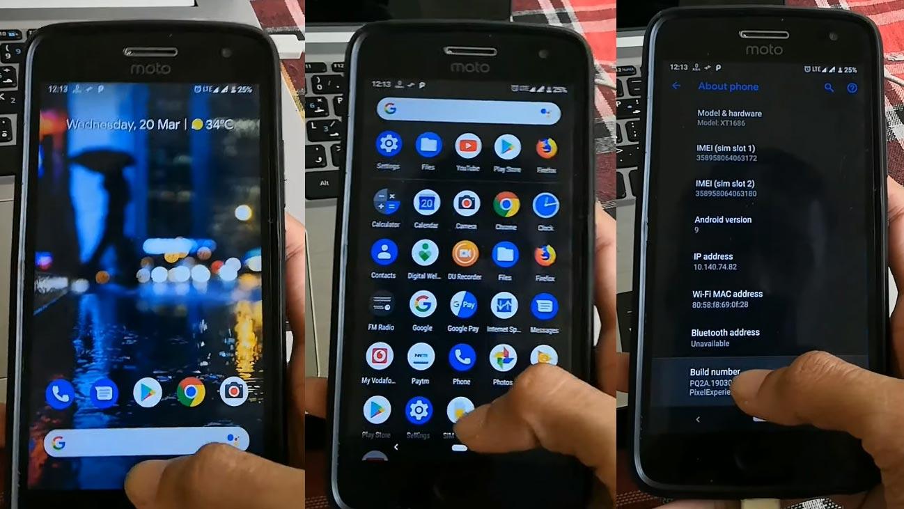 Moto G5 Plus Pixel Experience ROM Screenshots