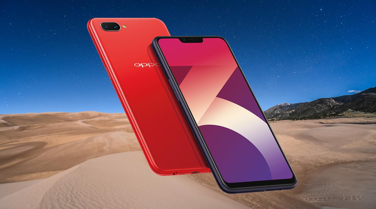 Oppo A3s wth Beach Sand Background