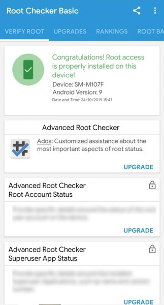 Samsung Galaxy M10s Root Checker Screenshot