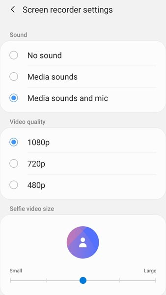 Screen Recording Feature Samsung One UI 2.0