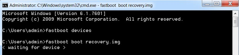 fastboot boot recovery