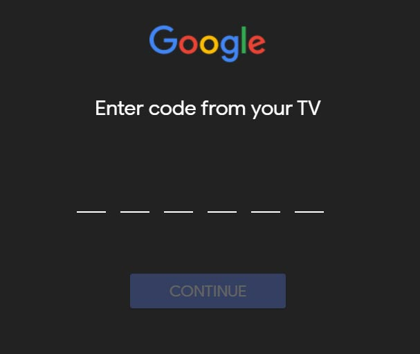 Android TV Sign In Google Account