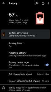 Battery Usage Screenshot Android