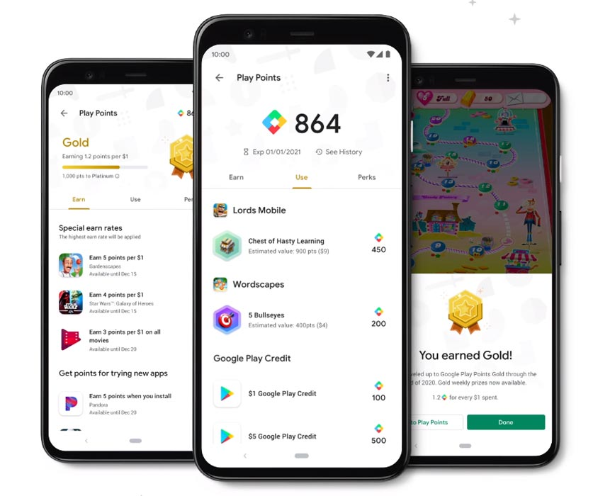 Google Play Points in Pixel 4